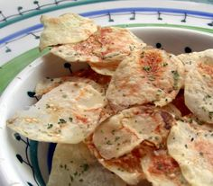 These potato chips are very easy to make in the microwave. Also, they are healthier for you as they are not cooked in any oils. This method has intrigued so many people that have tasted them and then made them for themselves. The younger people just love them.