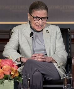 """Ruth Bader Ginsburg is ready to return to the Supreme Court after a brief hospitalization, according to """"On The Basis Of Sex"""" actor Felicity Jones. Felicty Jones, Ruth Bader Ginsburg Quotes, Cool Slides, Get Back To Work, Some Girls, Aging Gracefully, Girl Power, Feminism, No Worries"""