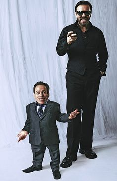 Ricky Gervais on why his controversial new TV comedy, starring 3ft 6in Warwick Davis, is the funniest thing he's ever done.  By Nicole Lampert.  From Mail Online.  October 2011.  Not sure who the photographer was.