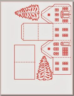 And here is a layout for the village shops: You may need to rotate and rearrange parts to fit everything on one page.