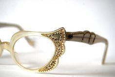 Vintage gorgeous cat eye eyeglasses spectacles by RetroEyewear, $150.00