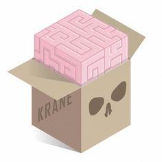 KRANE - Vanity, bones and skull ☠ illustrations and painting Skull Illustration, Crane, Bones, Container, Day, Painting, Skulls, Adobe, Delivery