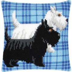 Scottie Dogs - The Fox Collection Appealing cushion front kits worked in cross stitches on painted canvas