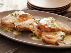 Smothered Pork Chops Recipe : Tyler Florence : Food Network - MasterCook