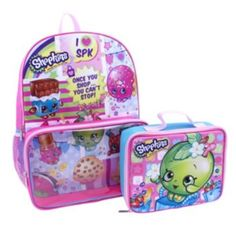 Kids+Shopkins+Backpack+&+Lunch+Bag+Set