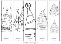 Printable Bookmarks To Color; Download   Print   Colour  Christmas Bookmark Templates