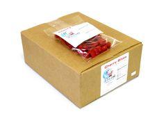 $18.59 http://sanduskycandy.com/candy-colors/red-candy/Licorice-Bites-cherry-5-oz-bag-box-of-12.html