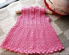 Croche pro Bebe: Vestidinho em croche