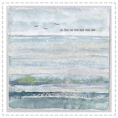 katebuchanan Thread Painting, Fabric Painting, Fabric Art, Textile Fiber Art, Textile Artists, Free Motion Embroidery, Embroidery Art, Landscape Art Quilts, Landscapes