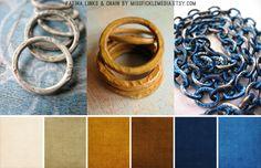 White copper, Saffron Yellow, Peacock Blue...