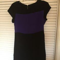100% silk color block dress Larsen gray color block in black , purple and gray. Wore 1x . Feels amazing against the skin . Larsen gray  Dresses Mini