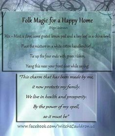 Folk magic for a happy home