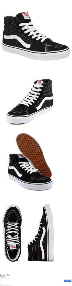 Men Shoes: Vans Classic Sk8 Hi Top Black White Fashion Mens Womens Shoes Size 4-13 BUY IT NOW ONLY: $54.95 #priceabateMenShoes OR #priceabate