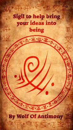 Sigil to help bring your ideas into being