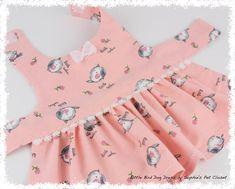 Little Bird Dog Dress - XXS,XS,S... Teacup Dog Dress, Dog Dress, Winter Dog Dress, Pet Clothes, Pet Custom Dress, Small Dog Dress, Small Pet