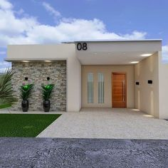 25 Best Outside Wall Art Design Ideas for Exterior Home House Wall Design, House Front Design, Home Room Design, Small House Design, Modern House Design, Outside Wall Art, Modern House Facades, Modern Architecture, House Construction Plan