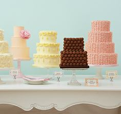 Love these wedding cakes – so simple and yet so beautiful. And the flavours – yum!