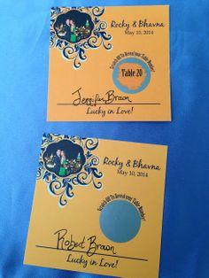Scratch Off Wedding Reception Usher Cards. AWESOME! #ScratchOff #Wedding #Bride #Placecards ~MyScratchOffs.com
