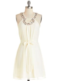 Wedding Bridesmaid Brunch. Luncheon, Breakfast Buffet. Seeds of Style Dress. Want to fashion a subtle yet stunning ensemble? #cream #modcloth