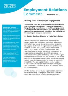 Placing Trust in Employee Engagement by Acas Council