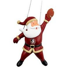 Florida State Seminoles Football Santa Christmas Ornament