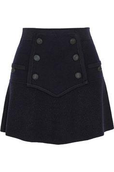 knitted wool blend skirt <3