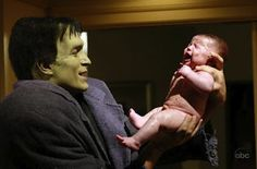 Love Letter To Desperate Housewives #4. Standout scene from DH, Dr. Adam Mayfair, delivering Daniel's baby dressed as Frankenstein.  By: Felicity Huffman