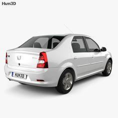 model of Dacia Logan 2010 Dacia Logan, Stl File Format, Uv Mapping, Car Engine, 3d, Cars, Model, Autos