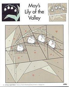 may's lily of the valley - paper pieced