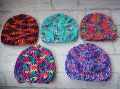 hand knitted baby hat / hand knit baby cap / hand made hat /