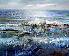 Lorna Holdcroft ~ Recent Paintings: Sussex Shore - Acrylic on canvas 120 x100cm
