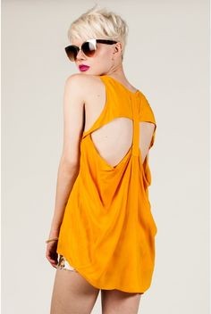 Sunset Back Cut Out Top