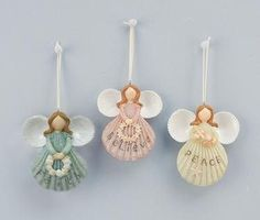 Deltona Seashells & Gifts - ANGEL RESIN CHRISTMAS ORNAMENT (EA)