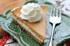 Pumpkin Cheesecake Pie recipe by Barefeet In The Kitchen