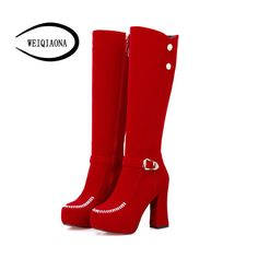 Cheap chelsea boots, Buy Quality heeled chelsea boots directly from China high boots Suppliers: Winter flannel Round toe Rhinestones belt buckle high heels high boots waterproof platform thick heels Chelsea boots Women's Boots, High Boots, Heeled Boots, Thick Heels, Belt Buckles, Rhinestones, Chelsea Boots, Plate, Platform
