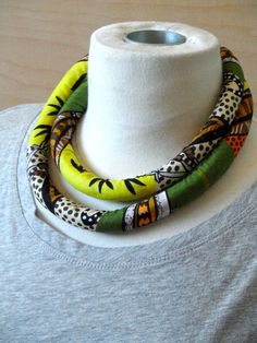 African+Fabric+Necklace+Bracelet++Aboriginal+by+RitaVanTassel,+$32.00