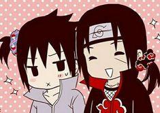 Itachi and sasuke XD~Hanyuu Itachi Uchiha, Naruto Shippuden Anime, Anime Naruto, Boruto, Naruto Boys, Naruto Cute, Naruto Funny, Chibi, Otaku
