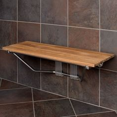 "36"" Folding Teak Shower Seat - Shower Seats - Bathroom Accessories - Bathroom"