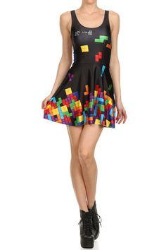 tetris dress | Tetris now has an official fashion line