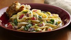 A delightful dish based on the Italian classic, with low-fat ingredients and healthy vegetables added.