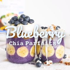 Blueberry Chia Protein Parfait This Blueberry Chia Protein Parfait is the perfect protein loaded breakfast snack. This Blueberry Chia Protein Parfait is a delicious breakfast snack that is vegan, paleo, and packed with nutrients and protein. Breakfast Snacks, Health Breakfast, Protein Breakfast, Healthy Breakfast Recipes, Snack Recipes, Breakfast Parfait, Healthy Recipes, Healthy Bedtime Snacks, Healthy Snacks