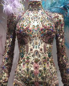 This bejeweled catsuit was my favorite piece from the Victoria's Secret Fashion Show exhibit on 5th Avenue. It's also a piece that contains exactly no Victoria's Secret lingerie. Funny how that worked out. ✨