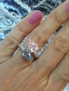 Fairest of them all: why we love pink diamond engagement rings Pink Diamond Engagement Ring, Colored Engagement Rings, Dior Ring, Gem Diamonds, Heart Shaped Rings, Jewelry Rings, Jewlery, Fine Jewelry, Diamond Are A Girls Best Friend