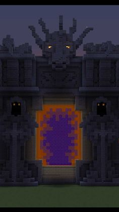 Shared by Nether portal idea Minecraft Portal, Minecraft Farm, Minecraft Fan Art, Minecraft Medieval, Minecraft Plans, Minecraft Houses Blueprints, Minecraft Construction, Minecraft Games, Minecraft Designs