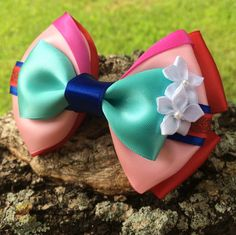 Mulan Hair Bow with Alligator Clip by DumbowShoppe on Etsy