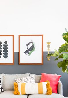 Wall Crawl: Picking the Right Art for Your Home and Making Sure it Fits When it Gets There - Paper and Stitch Retro Home Decor, Diy Home Decor, Home Living Room, Living Room Decor, Living Spaces, Decorating On A Budget, Cool Walls, Home Decor Inspiration, Decor Ideas