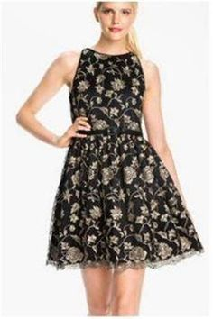 Anthropologie Foiled Flower Dress Sz L - By Sam & Lavi, Retailed for $198 - NWT #Anthropologie