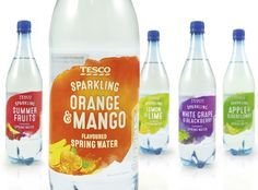 Tesco Flavoured Water — The Dieline - Branding & Packaging Design