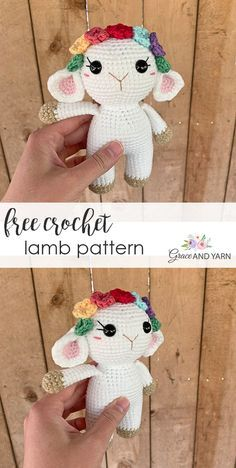 Free Crochet Lamb Pattern Free Crochet Lamb Pattern,Amigurumi Related posts:The 10 Best Platforms for Online Courses - Life Lived Curiously - Companies Giving You Freebies That Don't Suck - freeCute Adorable Crochet Toys. Crochet Mignon, Crochet Bunny, Cute Crochet, Crochet Crafts, Crochet Projects, Crochet Animals, All Free Crochet, Sewing Crafts, Knit Crochet