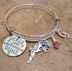 Girls just want to have Guns Bangle Charm by SoutherncharmedStore